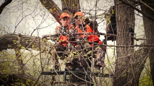 Guide Gear 20' Double Rail Ladder Tree Stand With Hunting Blind - image 6 from the video