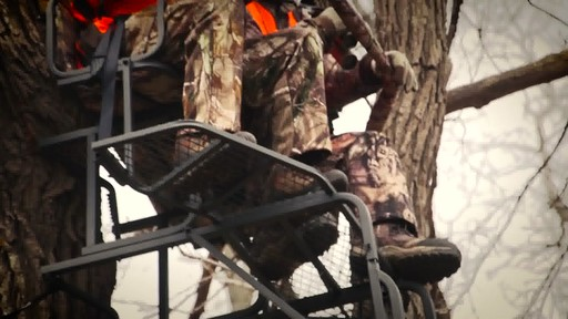 Guide Gear 20' Double Rail Ladder Tree Stand With Hunting Blind - image 8 from the video