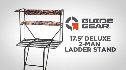 Guide Gear 17.5' Deluxe 2 Man Hunting Ladder Tree Stand - image 1 from the video