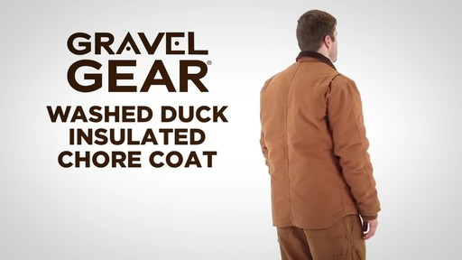 Gravel Gear Men's Washed Duck Insulated Chore Coat - image 1 from the video