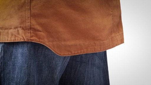 Gravel Gear Men's Washed Duck Insulated Chore Coat - image 4 from the video