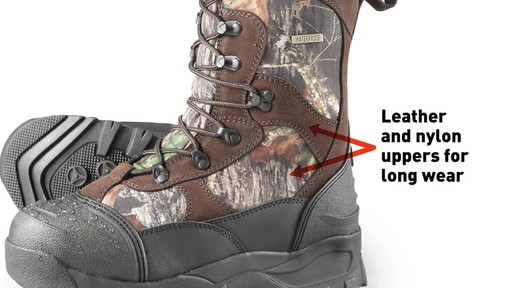 Guide Gear Men's Insulated Hunting Boots Waterproof Thinsulate 2400 Gram - image 3 from the video