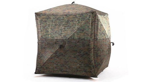Guide Gear Silent Adrenaline Camo Ground Hunting Blind 360 View - image 1 from the video