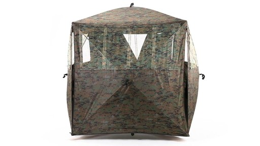 Guide Gear Silent Adrenaline Camo Ground Hunting Blind 360 View - image 10 from the video