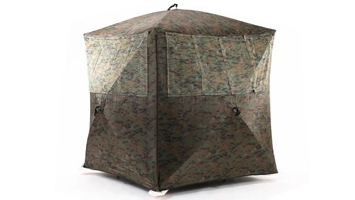Guide Gear Silent Adrenaline Camo Ground Hunting Blind 360 View - image 2 from the video