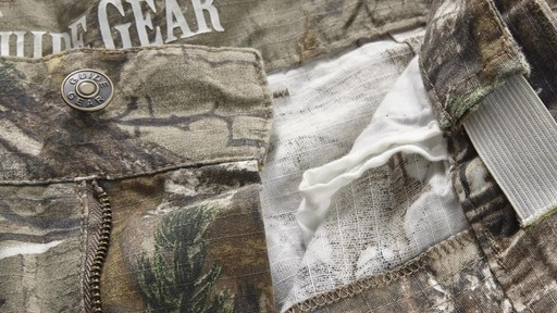 Guide Gear Men's Camo Ripstop Hunting Pants 360 View - image 10 from the video