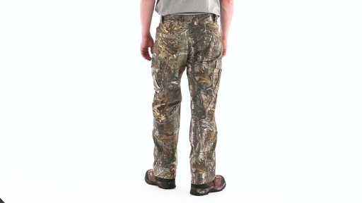 Guide Gear Men's Camo Ripstop Hunting Pants 360 View - image 4 from the video