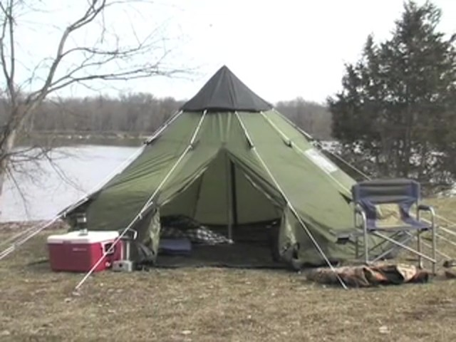 Guide Gear® 10x10' Teepee Tent - image 10 from the video