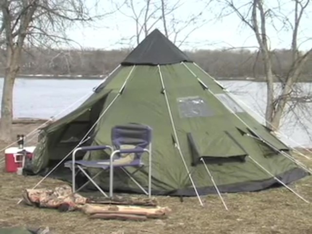 Guide Gear® 10x10' Teepee Tent - image 2 from the video