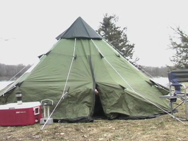 Guide Gear® 10x10' Teepee Tent - image 6 from the video