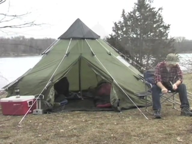 Guide Gear® 10x10' Teepee Tent - image 9 from the video
