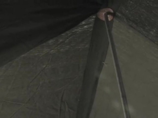 Used Russian Military 8x18' Canvas Tent Olive Drab - image 6 from the video