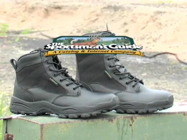 """Men's Guide Gear® 8"""" Waterproof Side - zip Duty Boots - image 10 from the video"""