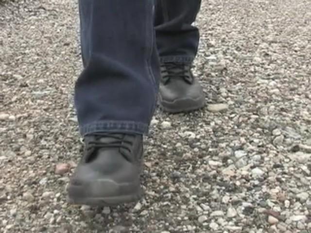 """Men's Guide Gear® 8"""" Waterproof Side - zip Duty Boots - image 3 from the video"""
