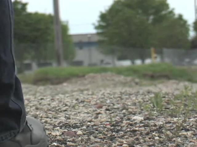"""Men's Guide Gear® 8"""" Waterproof Side - zip Duty Boots - image 4 from the video"""