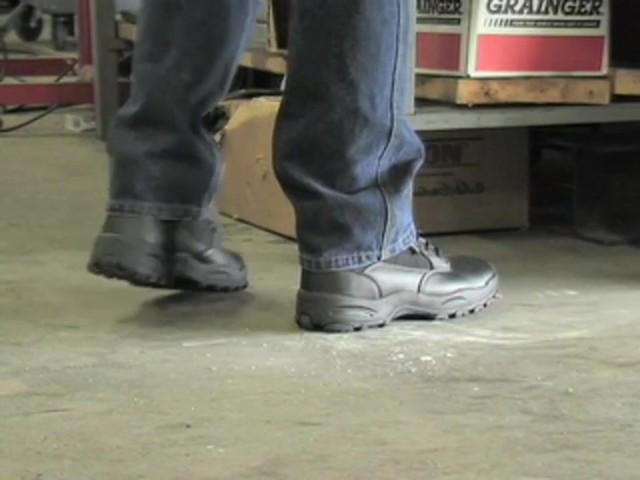 """Men's Guide Gear® 8"""" Waterproof Side - zip Duty Boots - image 5 from the video"""
