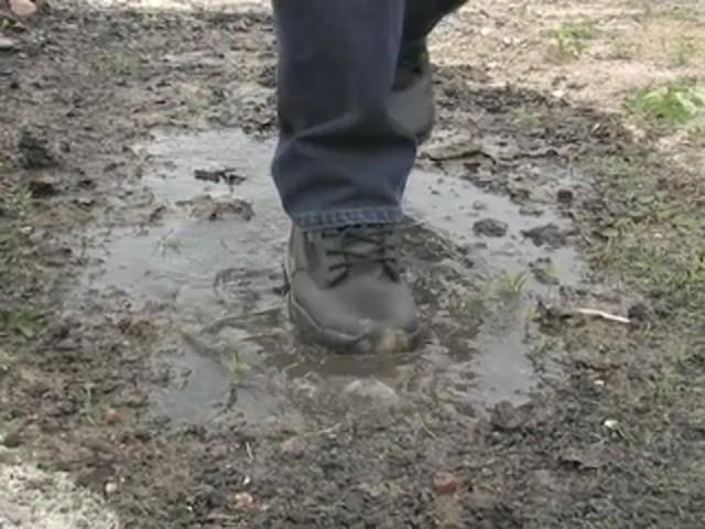 """Men's Guide Gear® 8"""" Waterproof Side - zip Duty Boots - image 6 from the video"""