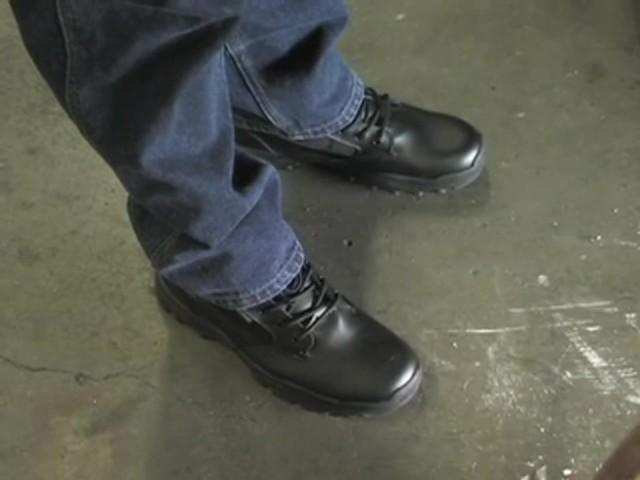 """Men's Guide Gear® 8"""" Waterproof Side - zip Duty Boots - image 7 from the video"""