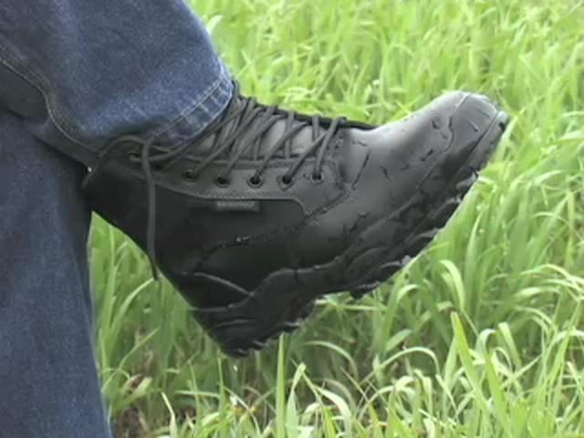 """Men's Guide Gear® 8"""" Waterproof Side - zip Duty Boots - image 8 from the video"""
