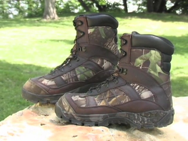 Men's Guide Gear® Waterproof 800 gram Thinsulate™ Ultra Insulation EXO Hunters Hardwoods® Green - image 1 from the video