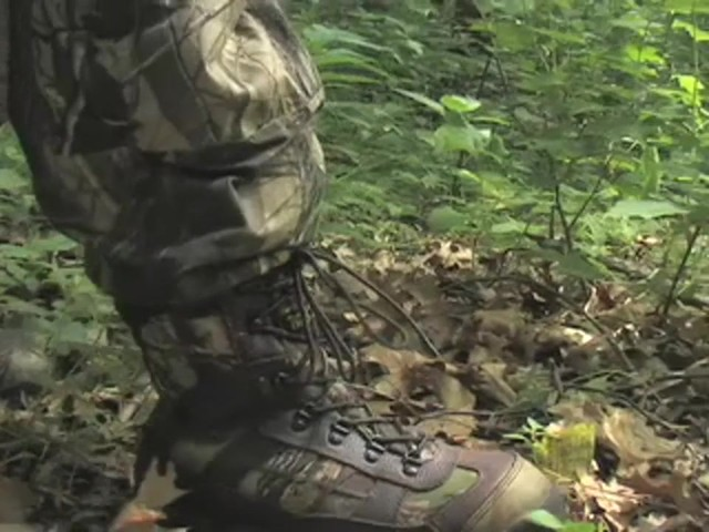 Men's Guide Gear® Waterproof 800 gram Thinsulate™ Ultra Insulation EXO Hunters Hardwoods® Green - image 2 from the video