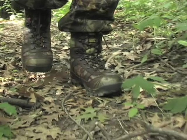 Men's Guide Gear® Waterproof 800 gram Thinsulate™ Ultra Insulation EXO Hunters Hardwoods® Green - image 3 from the video