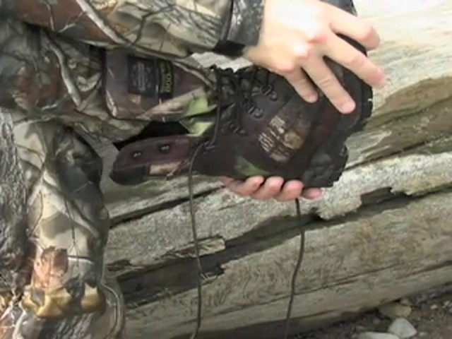 Men's Guide Gear® Waterproof 800 gram Thinsulate™ Ultra Insulation EXO Hunters Hardwoods® Green - image 6 from the video