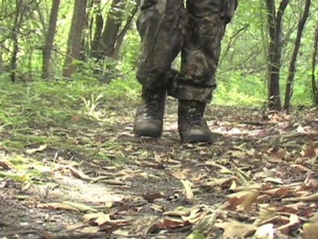 Men's Guide Gear® Waterproof 800 gram Thinsulate™ Ultra Insulation EXO Hunters Hardwoods® Green - image 7 from the video