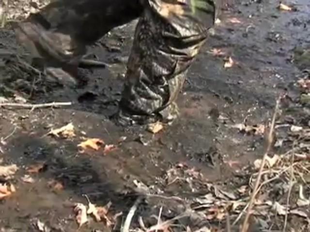 """Men's Waterproof 18"""" Guide Gear® Side - zip Cottonmouth II Snake Boots Mossy Oak® - image 3 from the video"""