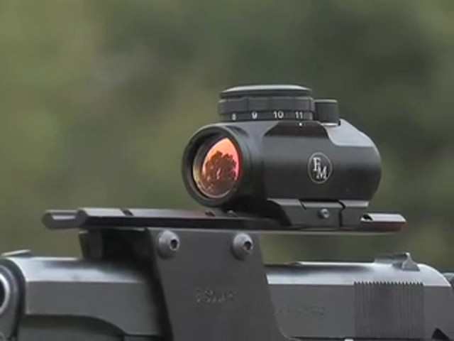 FM Optics™ 1X Mini Micro Red Dot Sight Matte Black - image 10 from the video