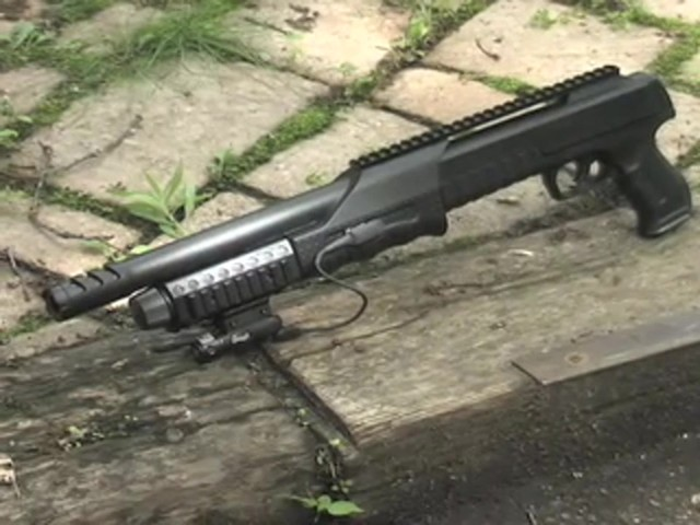 Walther® SG9000 Tactical Air Shotgun with BONUS Rail - mounted Laser Sight - image 10 from the video