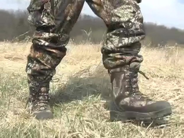 Men's Guide Gear® Waterproof 1200 gram Thinsulate™ Ultra Quilted Boots Realtree® Hardwoods Grey® - image 4 from the video
