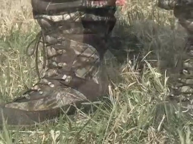 Men's Guide Gear® Waterproof 1200 gram Thinsulate™ Ultra Quilted Boots Realtree® Hardwoods Grey® - image 5 from the video