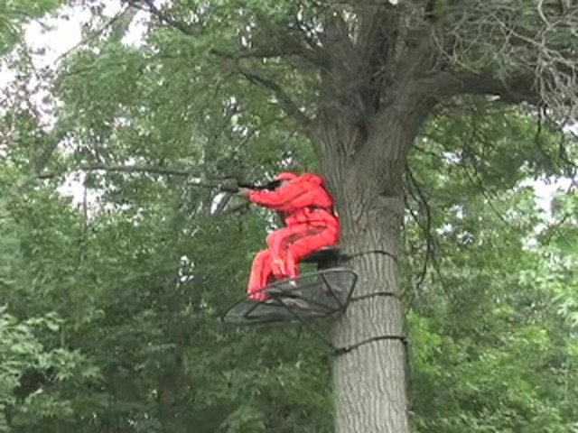 Guide Gear® Magnum Extreme Hang - on Tree Stand - image 7 from the video