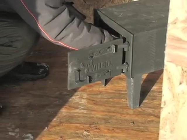 Military Style Swedish Yukon Wood Stove Black