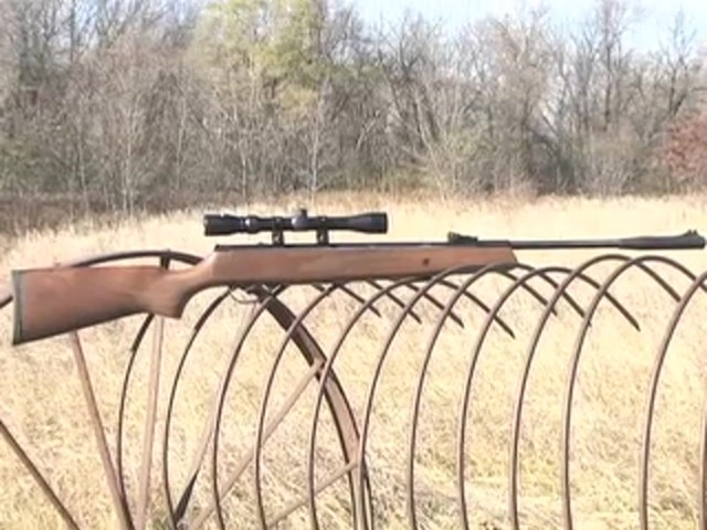 Hatsan® Model 95 .22 cal. Walnut Air Rifle with 3 - 9x32 mm AO Scope - image 10 from the video