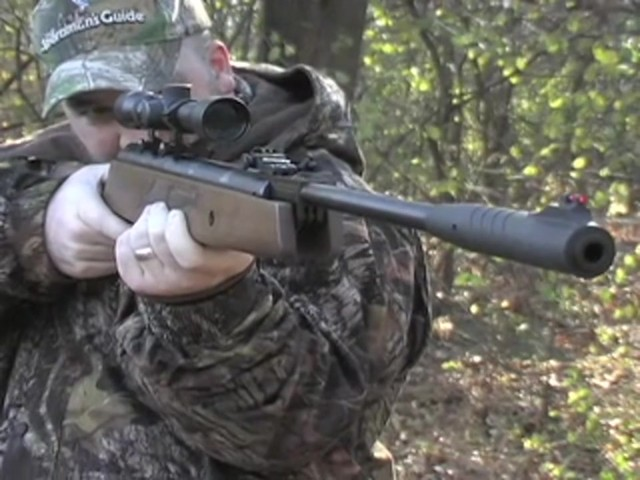 Hatsan® Model 95 .22 cal. Walnut Air Rifle with 3 - 9x32 mm AO Scope - image 2 from the video