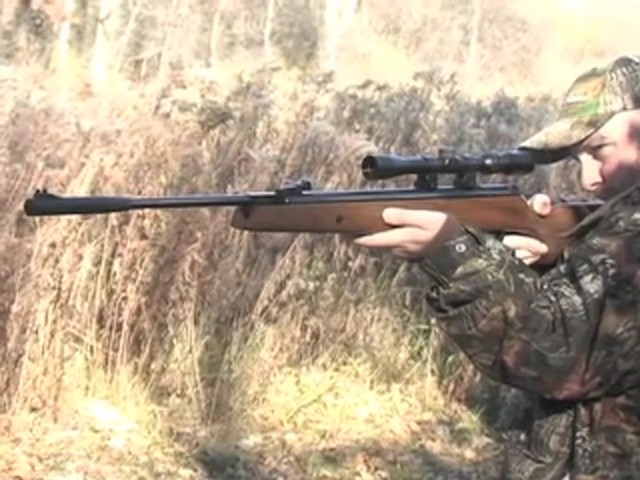 Hatsan® Model 95 .22 cal. Walnut Air Rifle with 3 - 9x32 mm AO Scope - image 5 from the video