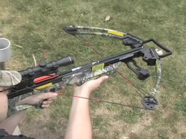 Carbon Express® X - Force™ 850 Crossbow Kit with BONUS Universal Cocking Harness  - image 2 from the video