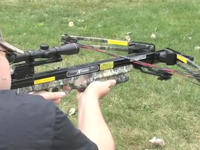 Carbon Express® X - Force™ 850 Crossbow Kit with BONUS Universal Cocking Harness  - image 5 from the video
