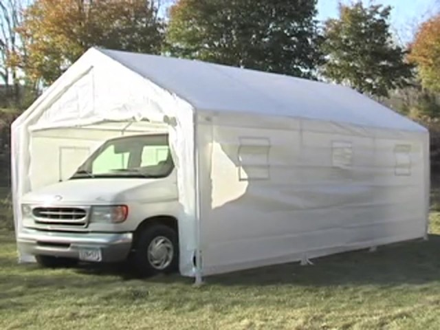 10x20' Hercules Snow Load Canopy Shelter / Garage White ...