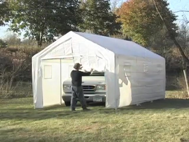 Garage Tent Snow : Hercules snow load canopy shelter garage white