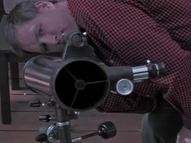 Celestron® AstroMaster 76EQ Telescope - image 7 from the video
