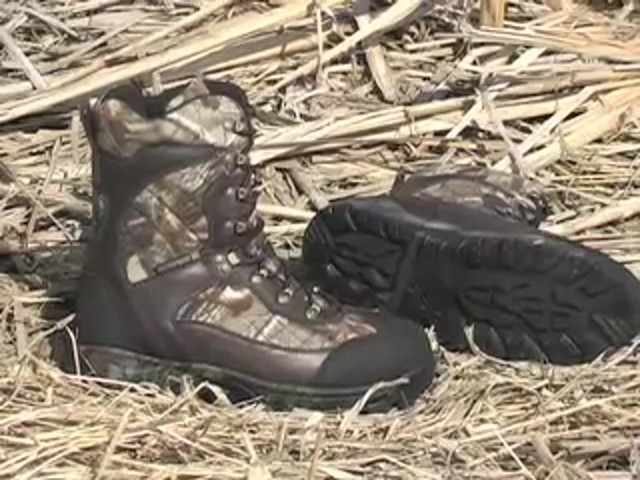 Men's Guide Gear® Waterproof 1200 gram Thinsulate™ Ultra Quilted Boots Realtree® Hardwoods Grey® - image 10 from the video