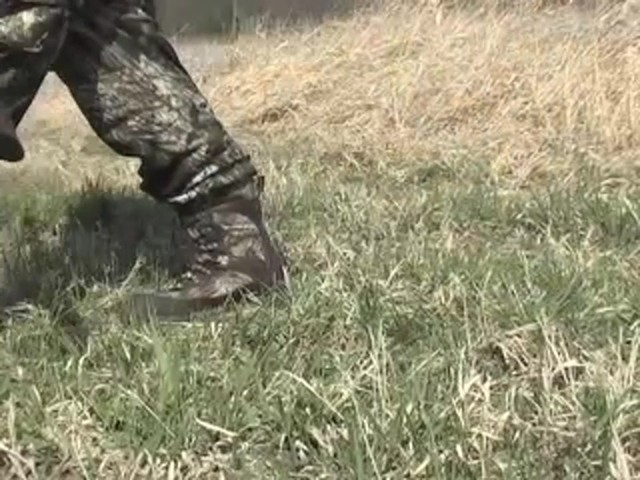 Men's Guide Gear® Waterproof 1200 gram Thinsulate™ Ultra Quilted Boots Realtree® Hardwoods Grey® - image 6 from the video