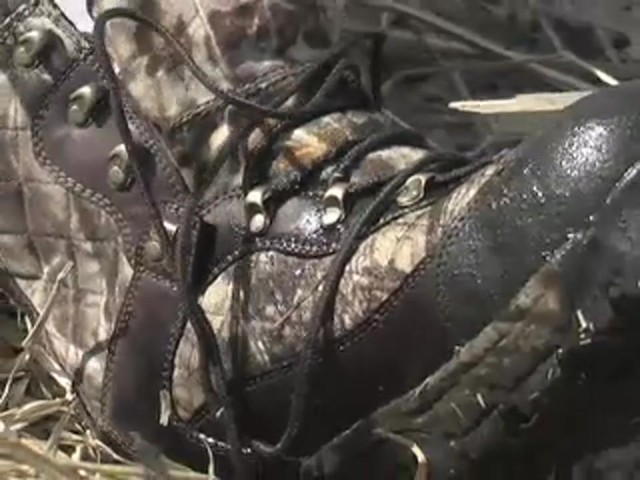 Men's Guide Gear® Waterproof 1200 gram Thinsulate™ Ultra Quilted Boots Realtree® Hardwoods Grey® - image 8 from the video