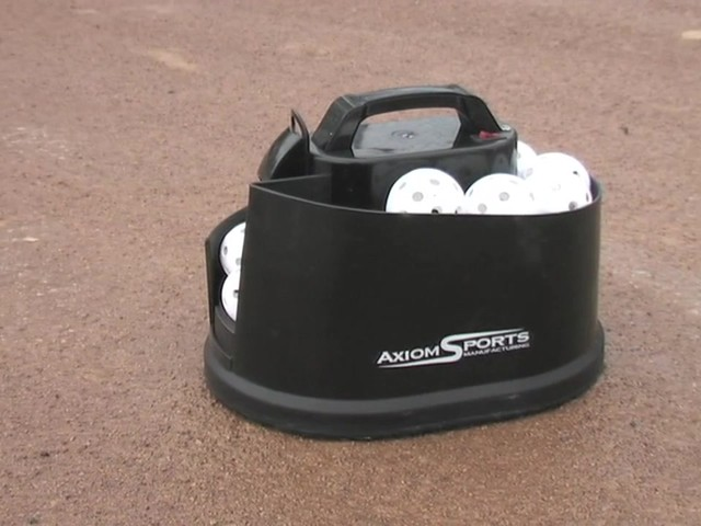 Axiom® Toss Master Soft Toss Pitching Machine - image 1 from the video