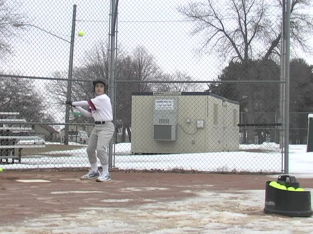 Axiom® Toss Master Soft Toss Pitching Machine - image 2 from the video