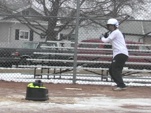 Axiom® Toss Master Soft Toss Pitching Machine - image 3 from the video
