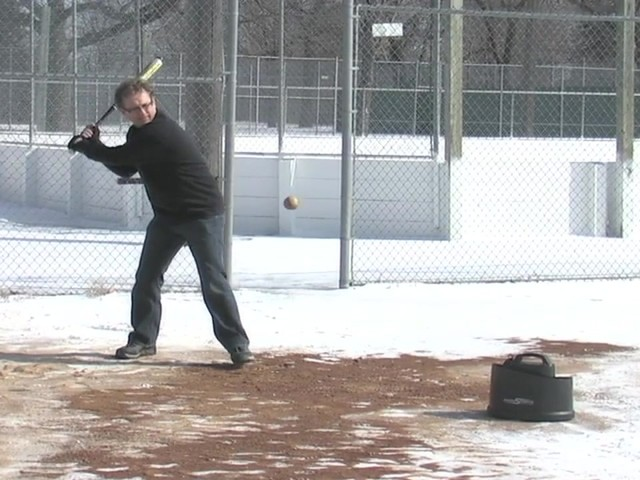 Axiom® Toss Master Soft Toss Pitching Machine - image 7 from the video